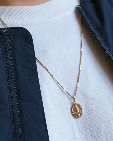 Golia Virgin Mary Coin Necklace