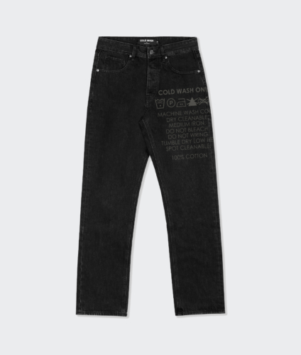 Cold Wash Lasered Carelabel Jeans