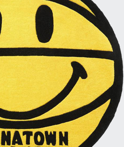 Chinatown Market Smiley Basketball Rug 4 Ft